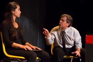 Octavia Chavez-Richmond (Sophie) and Gary De Mattei (lawyer Isaac) in No One Asked Me