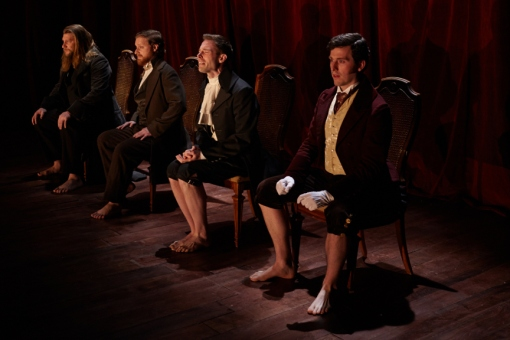Harlan Alford (Heathcliff), Nathaniel Basch-Gould (Laurie), Preston Martin (Darcy), Jon Riddleberger (Rochester) Photo by Suzi Sadler