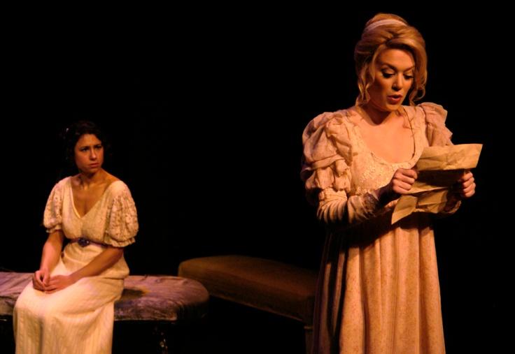 manda Yachechak plays Lizzie to Stephanie Leone's Jane. Photo by Peter Welch