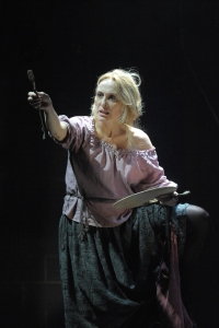 Jan Maxwell as Galactia. Photo by Stan Barouh.